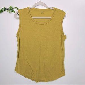 Madewell Golden Yellow Muscle Tee Tank Shirt